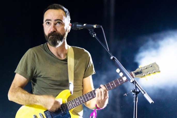 LAS VEGAS, NV - SEPTEMBER 23: James Mercer of The Shins performs at the 2016 Life is Beautiful festival on September 23, 2016 in Las Vegas, Nevada. (Photo by Brian Feinzimer/WireImage)